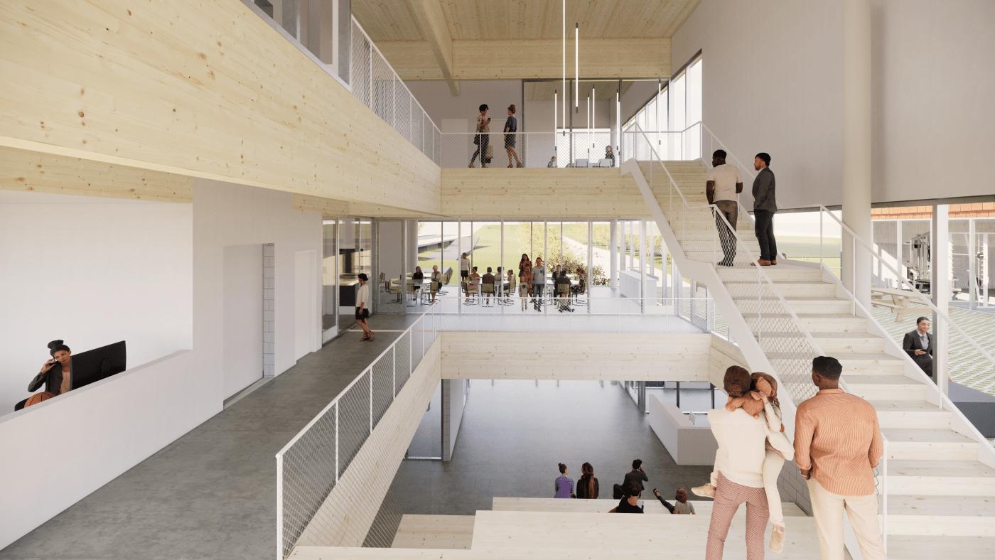 North End Community Center Atrium - Schematic Design