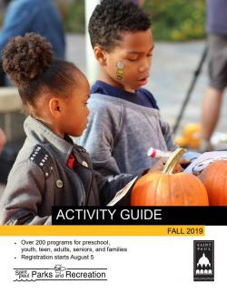 Fall Activity Guide cover of children with pumpkins