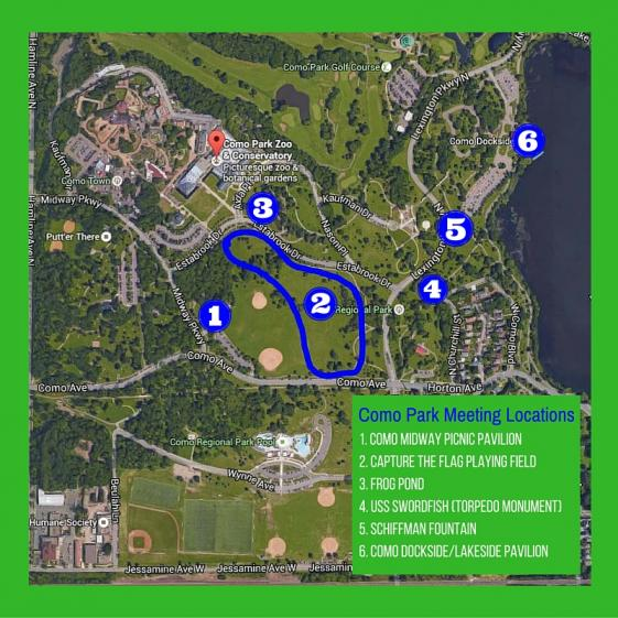 Como Park Fitness in the Park Locations Map
