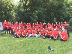 Upward Bound Volunteer Group in Indian Mounds Park