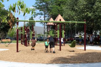 McQuillian Park Play Area Swings
