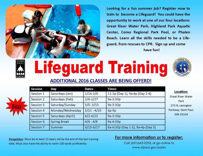 Lifeguard training Promotional poste