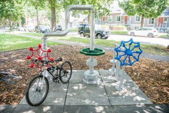McQuillan Park Bike Rack DAN MARSHALL PHOTOGRAPHY Minneapolis