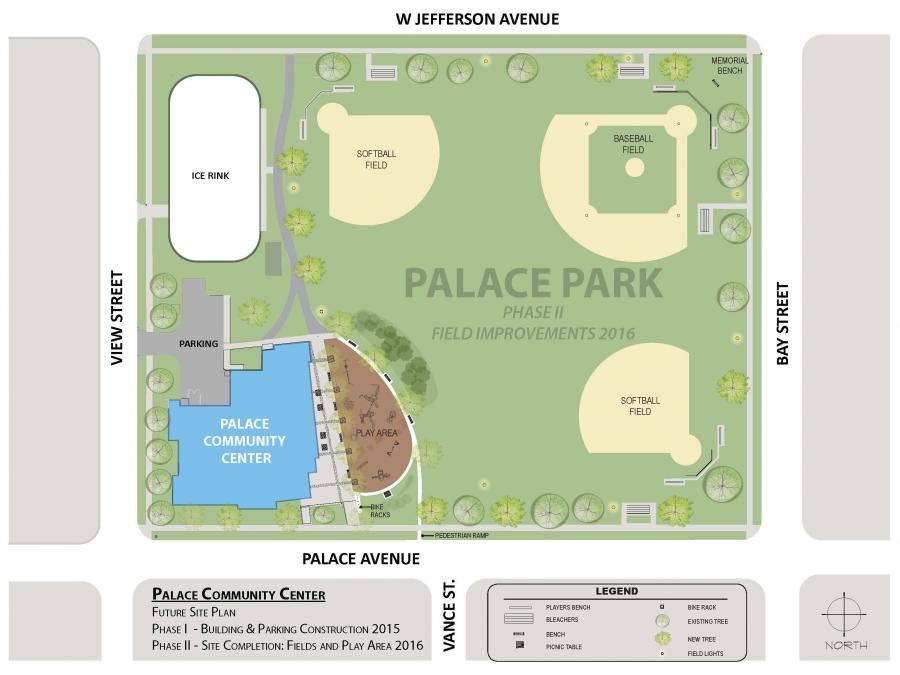 PALACE Community Center PHASE 2 MASTER PLAN rendering.