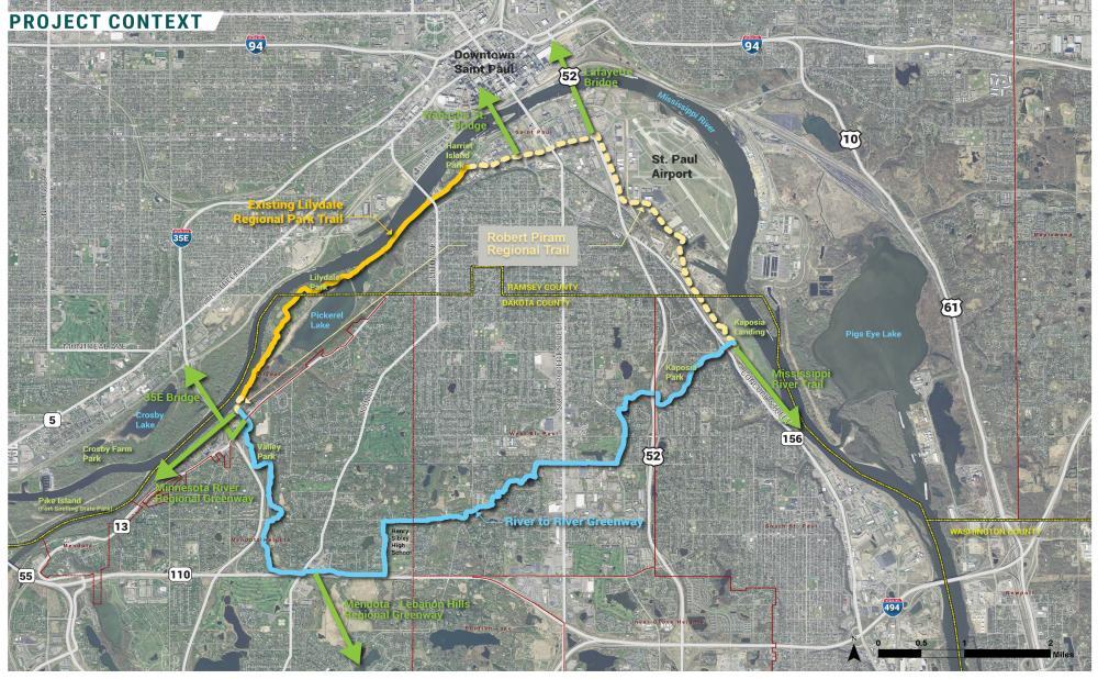 Robert Piram Regional Trail - Context Map