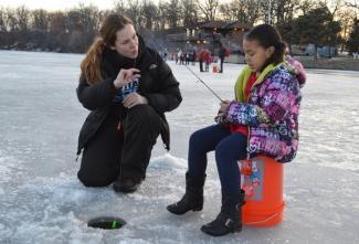ice fishing phalen freeze fest