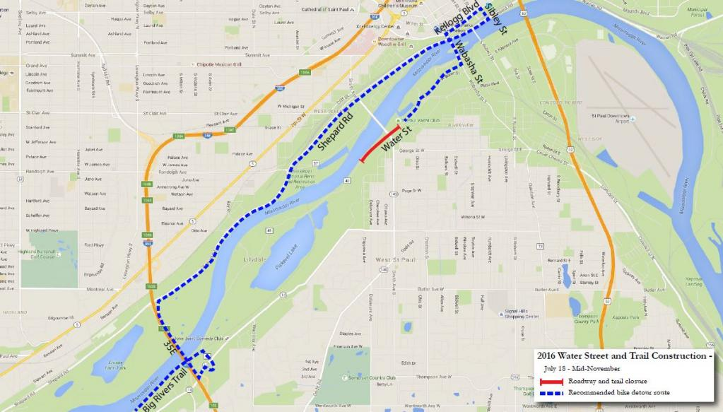 lilydale closure recommended bike trail map.JPG