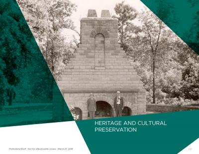 Heritage and cultural preservation chapter