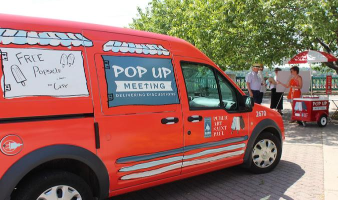 Pop Up Meeting truck