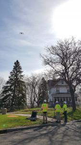 Using drones to survey Wabasha bluff