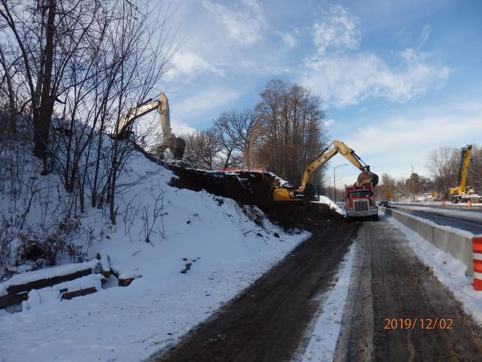 West abutment excavation