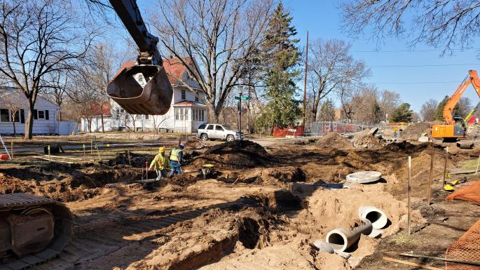 east storm sewer install