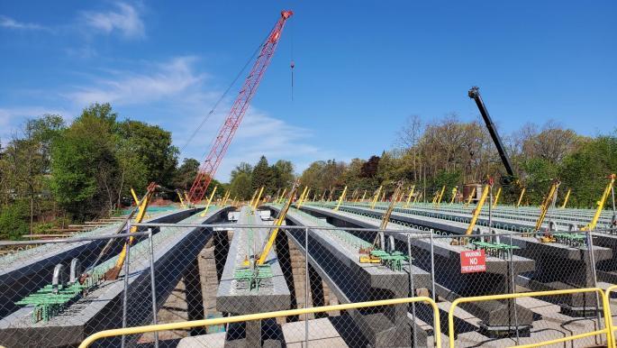 east bridge beams