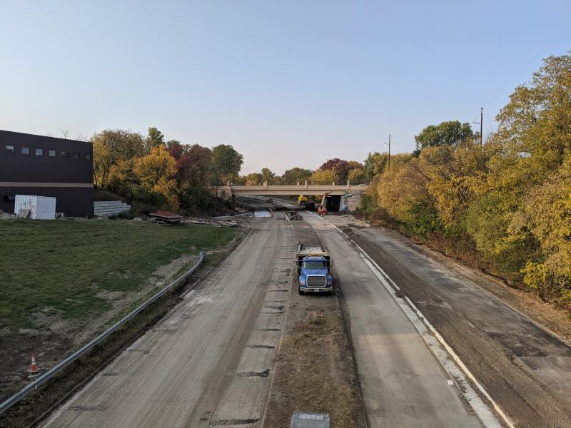 Photo of Ayd Mill Road Construction as of 10.10.20. The view is of Ayd Mill Road north bound from Grand Avenue.