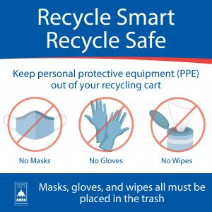 Image of a Recycle Smart Poster displaying PPE