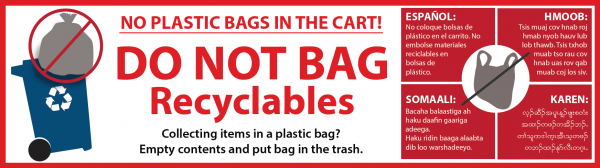 No plastic bags decal