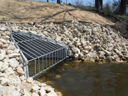 sewer outfall at Como Lake