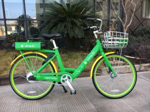pw - picture of a Lime dockless bike