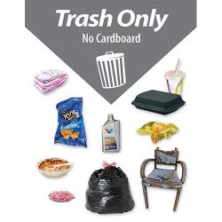 Image of a Label for a Trash Container