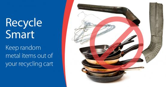 Recycle Smart - Keep random metal items out of your cart.