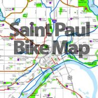 Saint Paul Bike Map