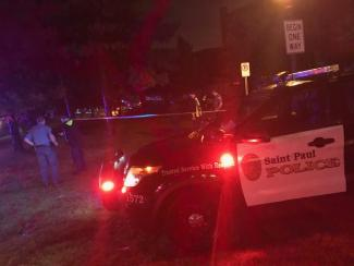 Three people were shot outside of the main gates of the Minnesota State Fair on Monday, Sept. 2