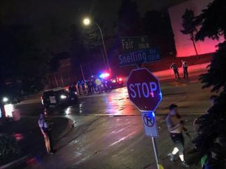 Scene where 19-year-old woman was struck by a vehicle outside of the State Fair