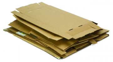 Picture of flattened cardboard.