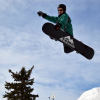 Como Park Ski Center snowboarder at terrain park