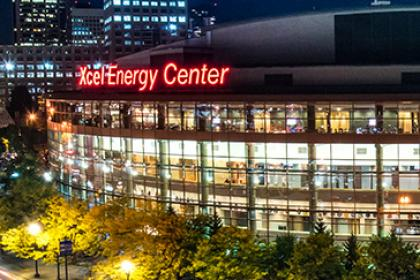 Xcel Energy Center Front